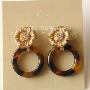 🔥Jcrew Flower Resin Loop Drop Earrings🔥